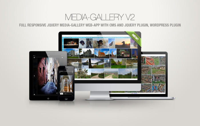 FULL RESPONSIVE JQUERY MEDIA-GALLERY WEB-APP WITH CMS AND JQUERY PLUGIN, WORDPRESS PLUGIN