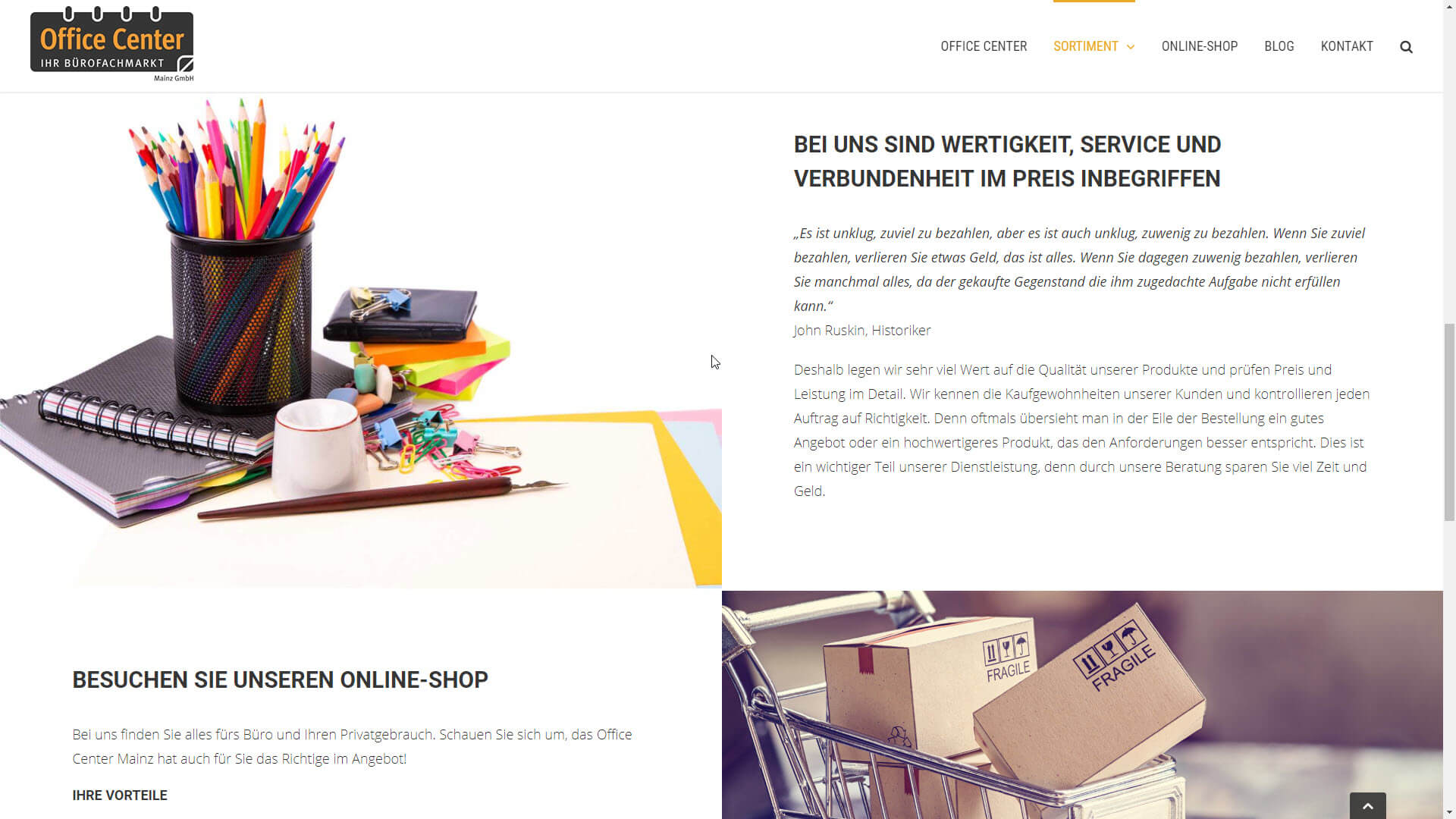 Office Center Mainz Webseiten Relaunch