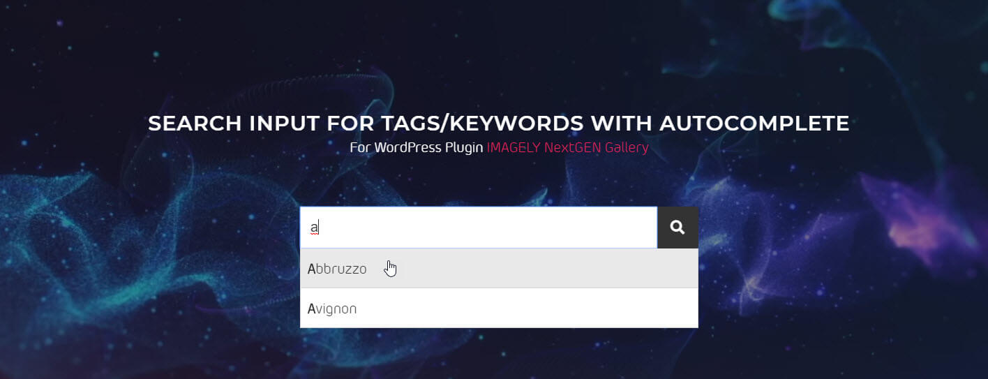 search input-tags-keywords