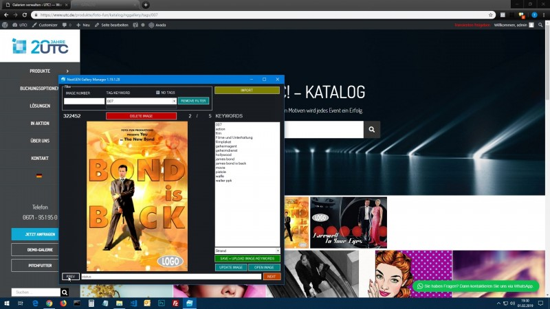 imagely nextgen gallery file and tag manager